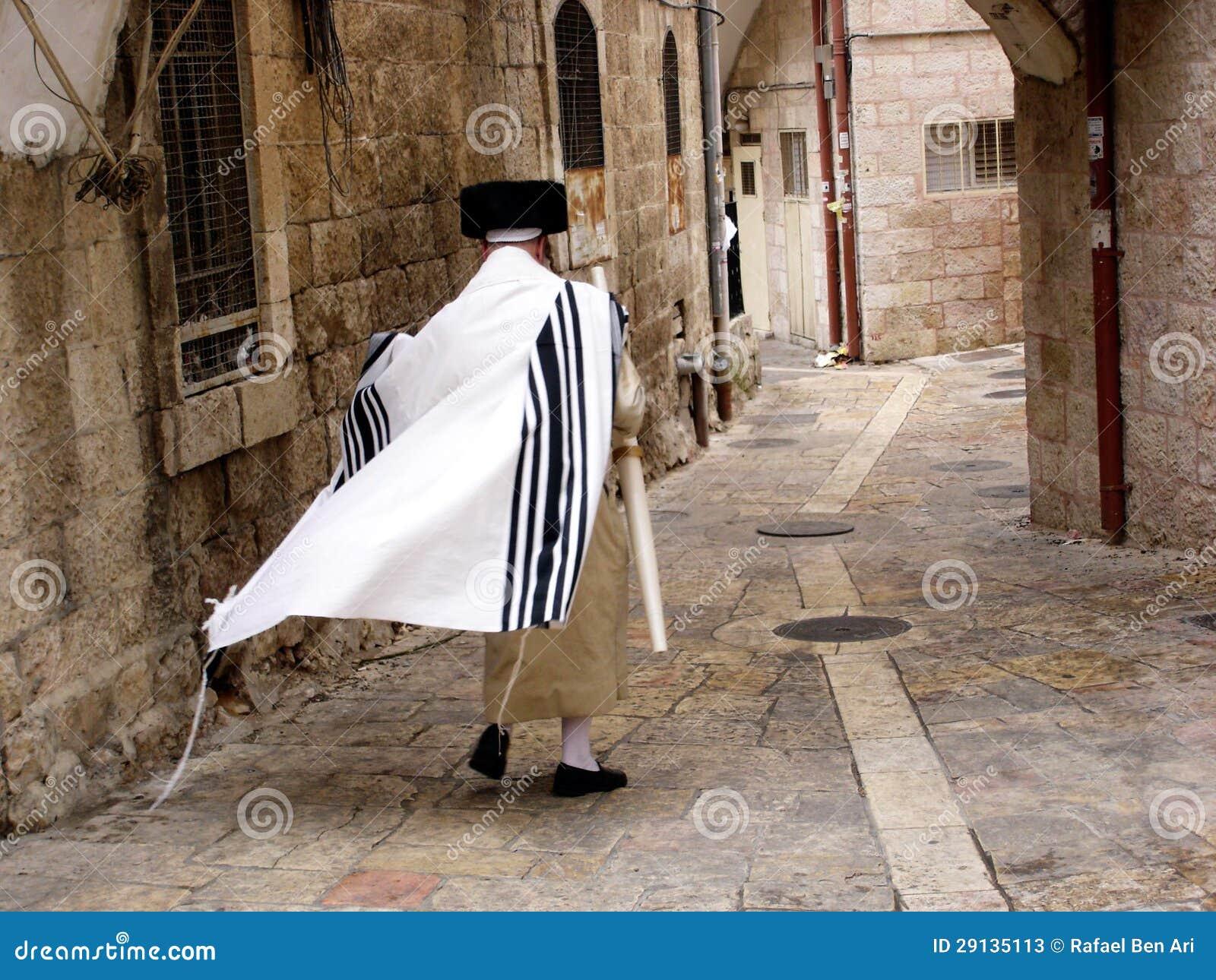 Neighbourhood för Mea Shearim i Jerusalem Israel.