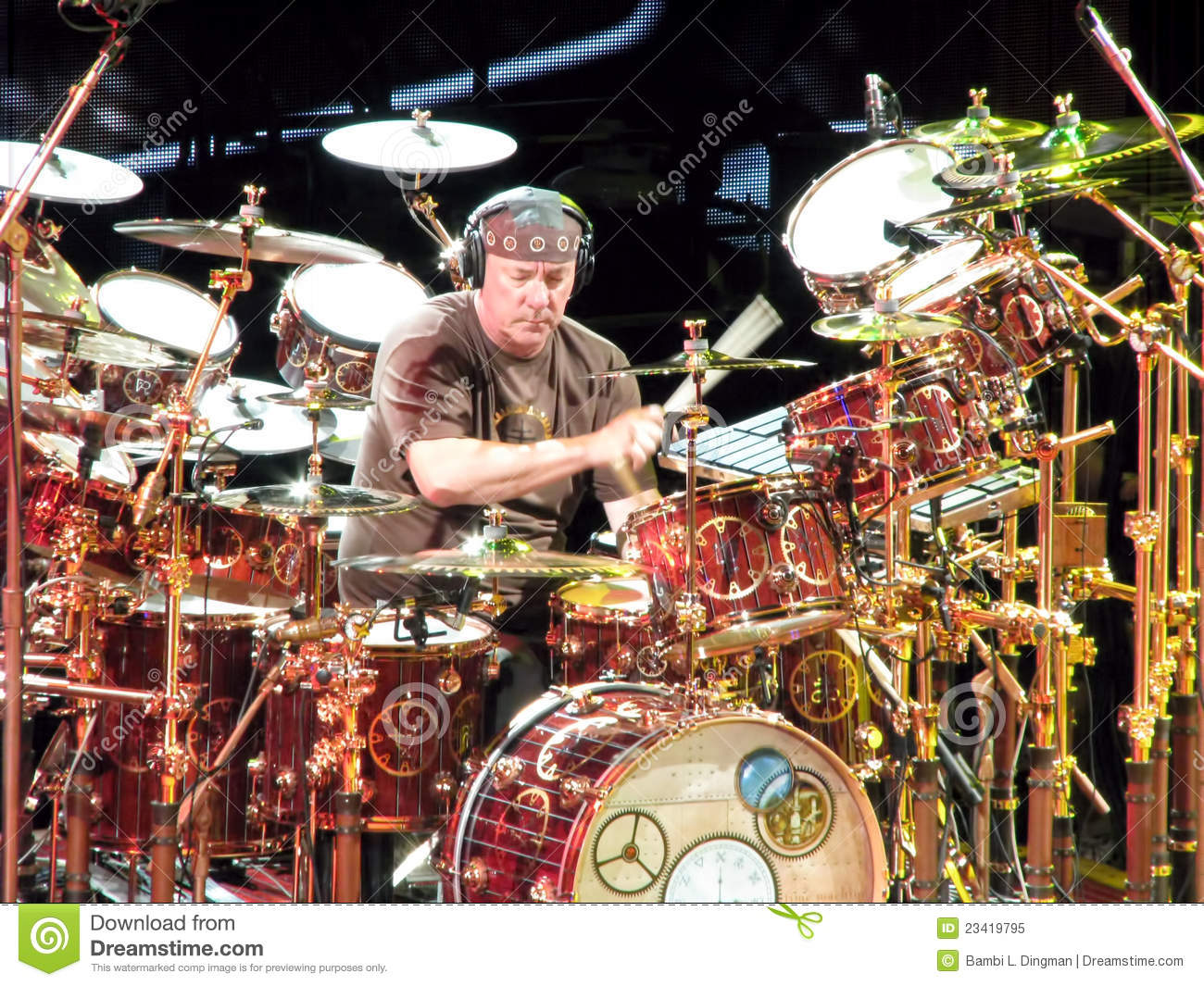 neil peart of rock group rush editorial image image
