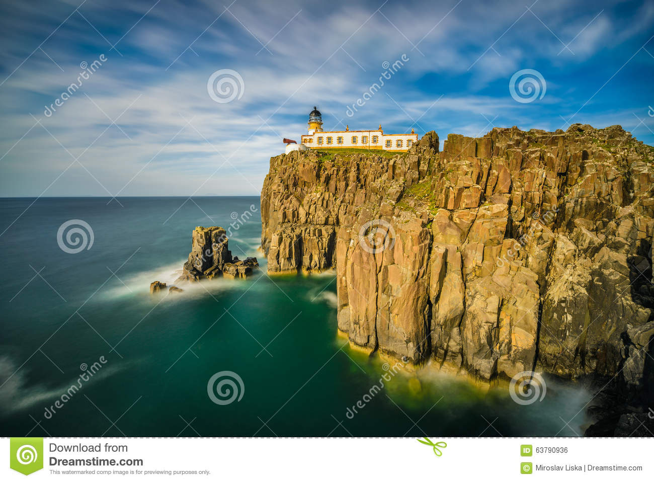 Isle Of Skye United Kingdom  city images : Neist Point Lighthouse At Isle Of Skye In Scotland Stock Photo Image ...
