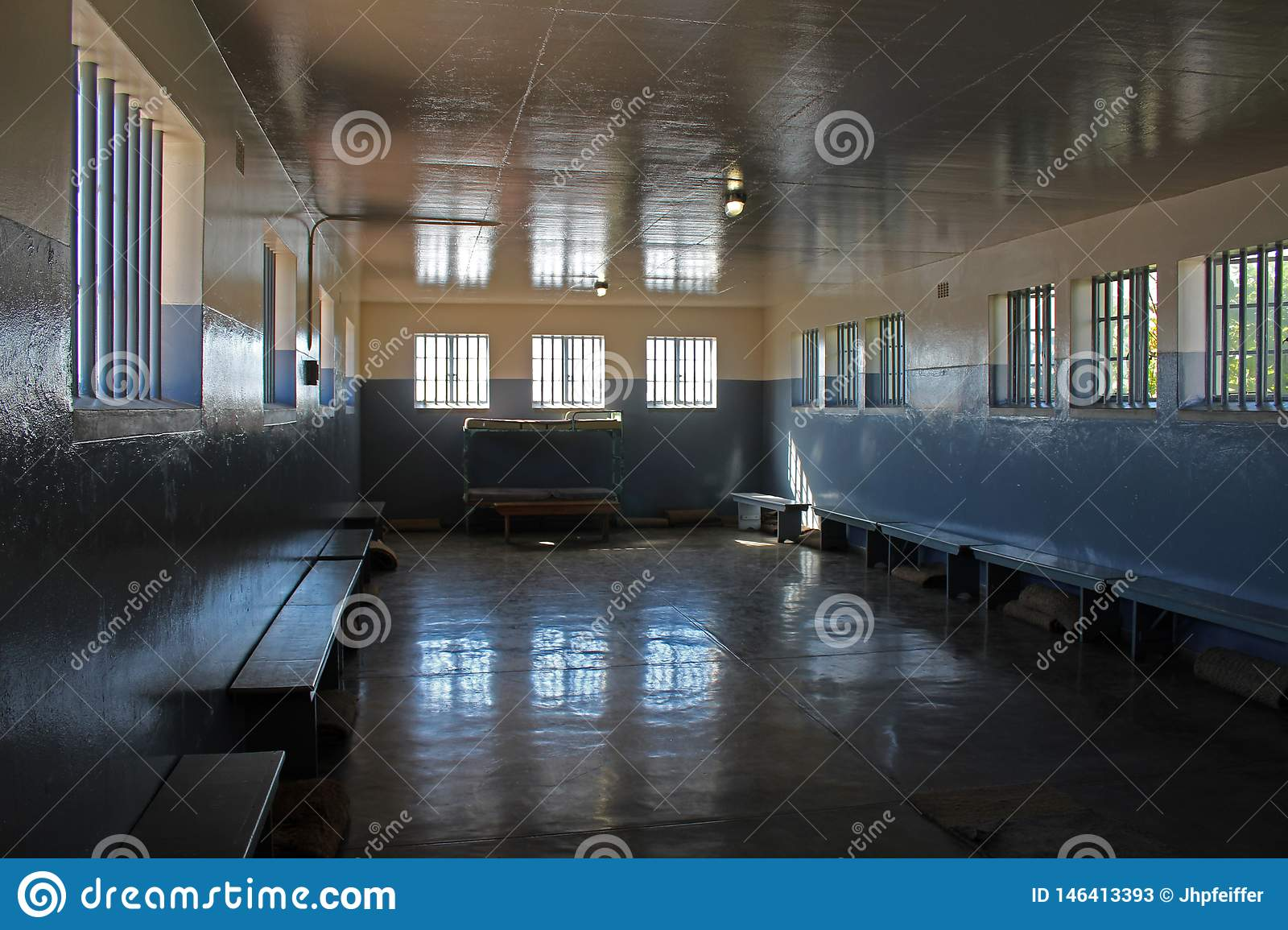 Nelson Mandel`s Prison Wing, Robben Island, Cape Town, South Africa