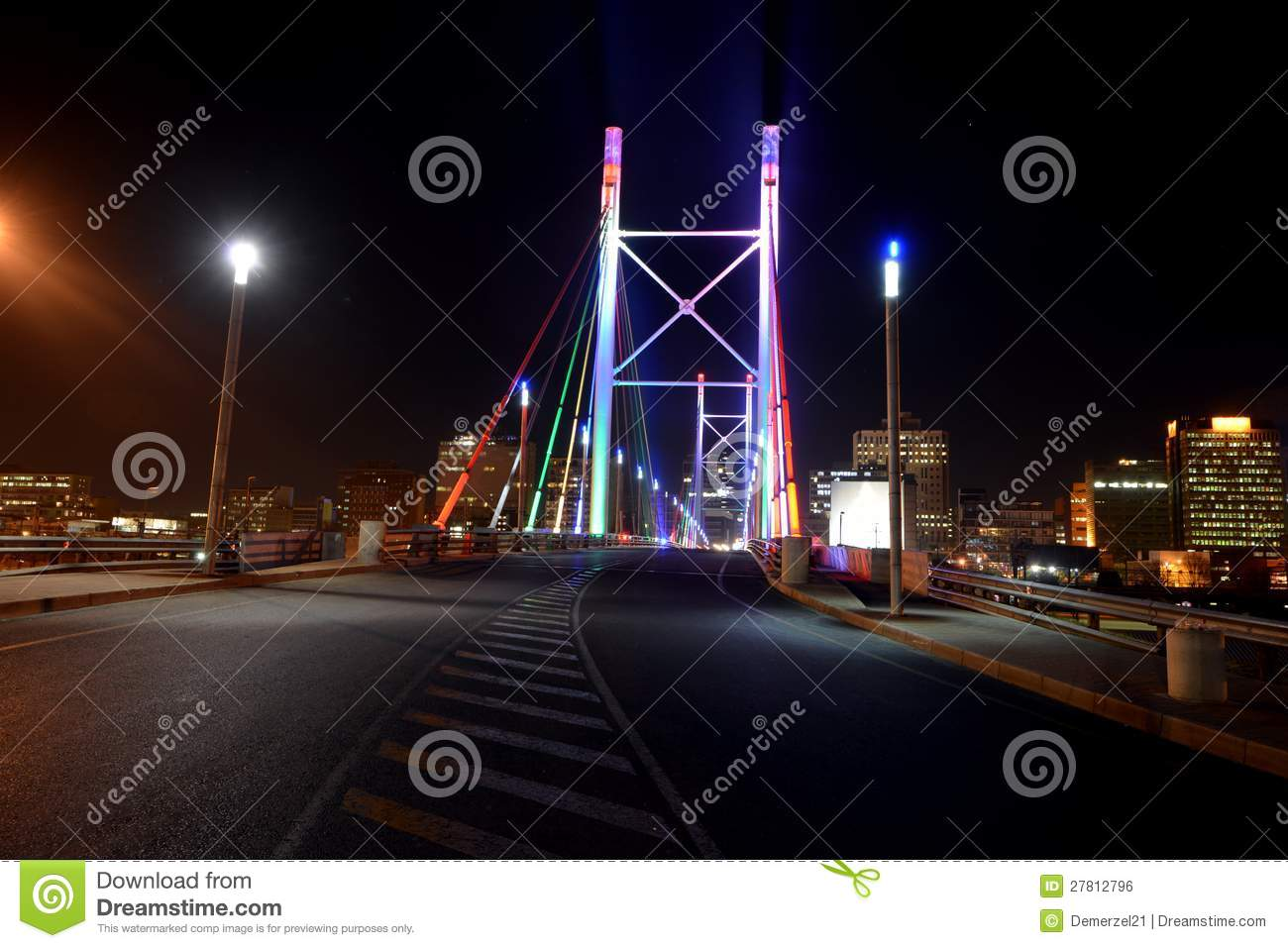 Nelson Mandela Bridge stock photo. Image of johannesburg ...