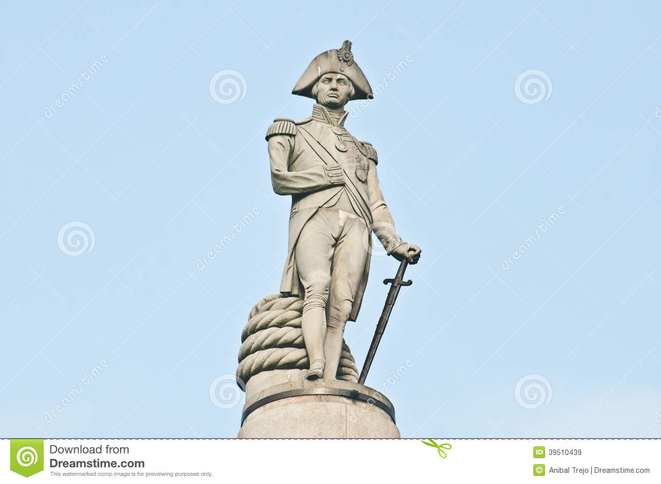 Nelsons Column at London, England