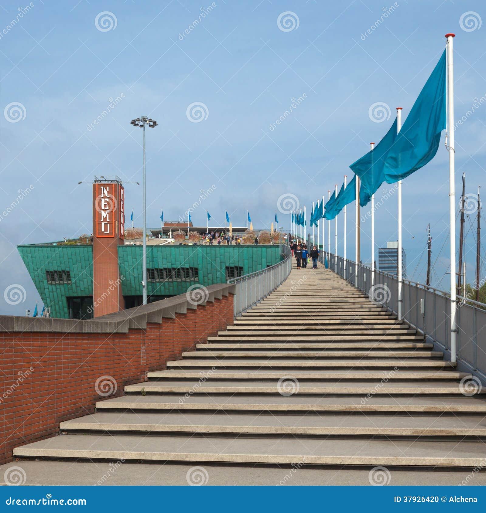 The Nemo Museum Terrace In Amsterdam Netherlands