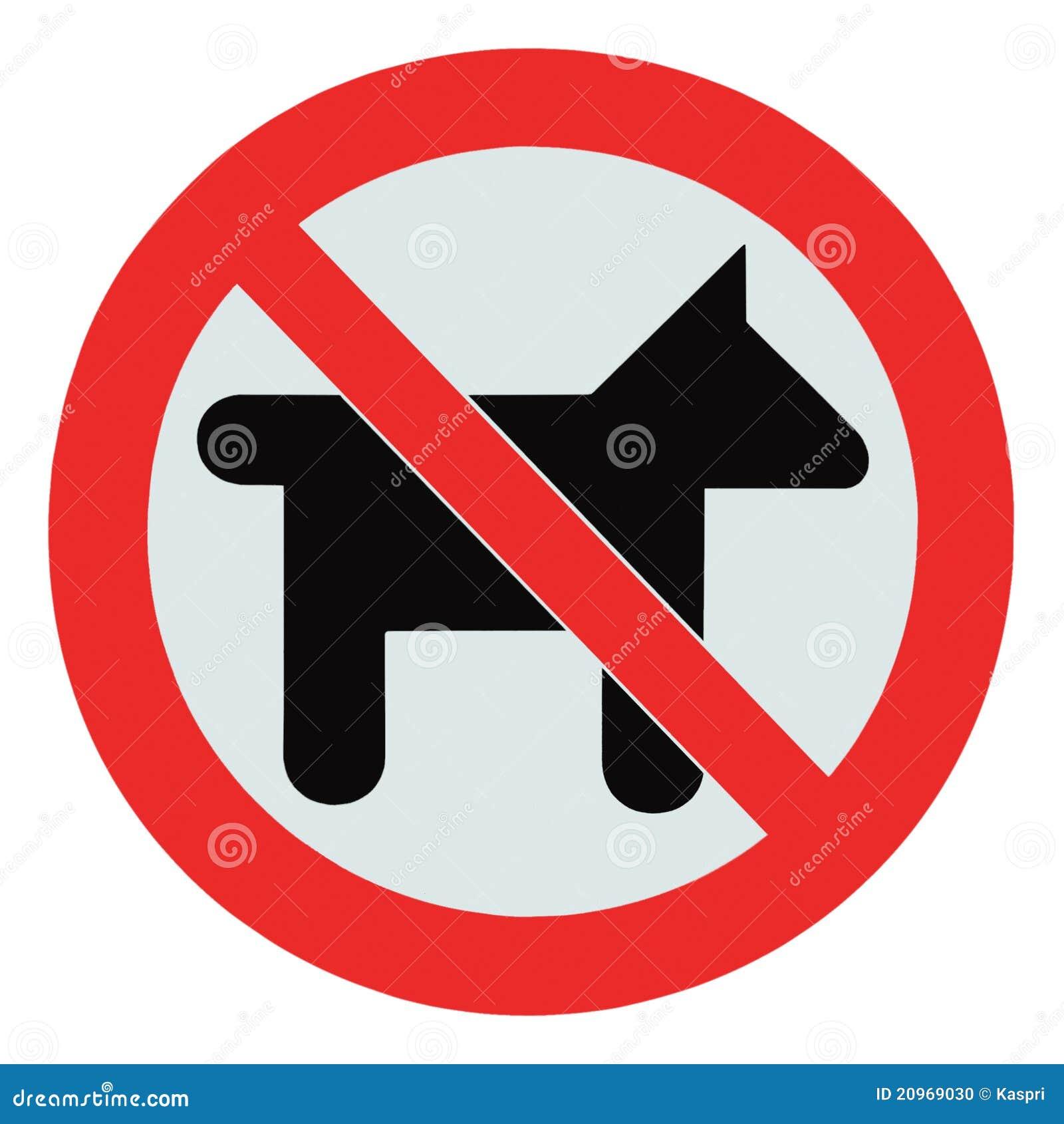 Nenhum animal de estimação dos cães permitiu o signage isolado sinal de aviso