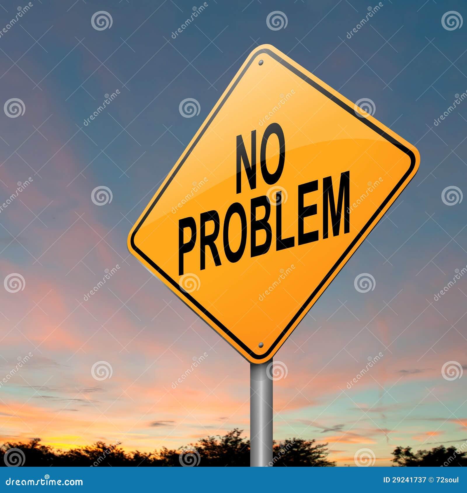Download Nenhum problema. ilustração stock. Ilustração de sinal - 29241737