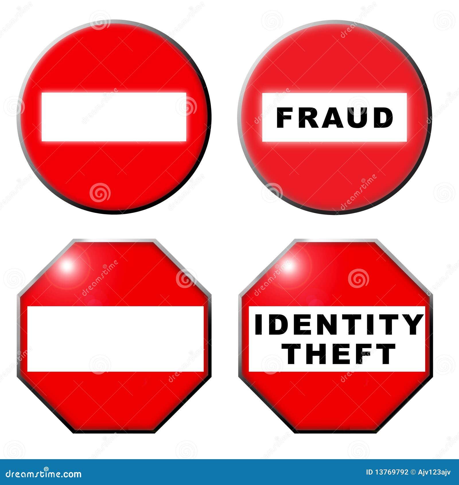 Nenhum símbolo do roubo de identidade da fraude da entrada