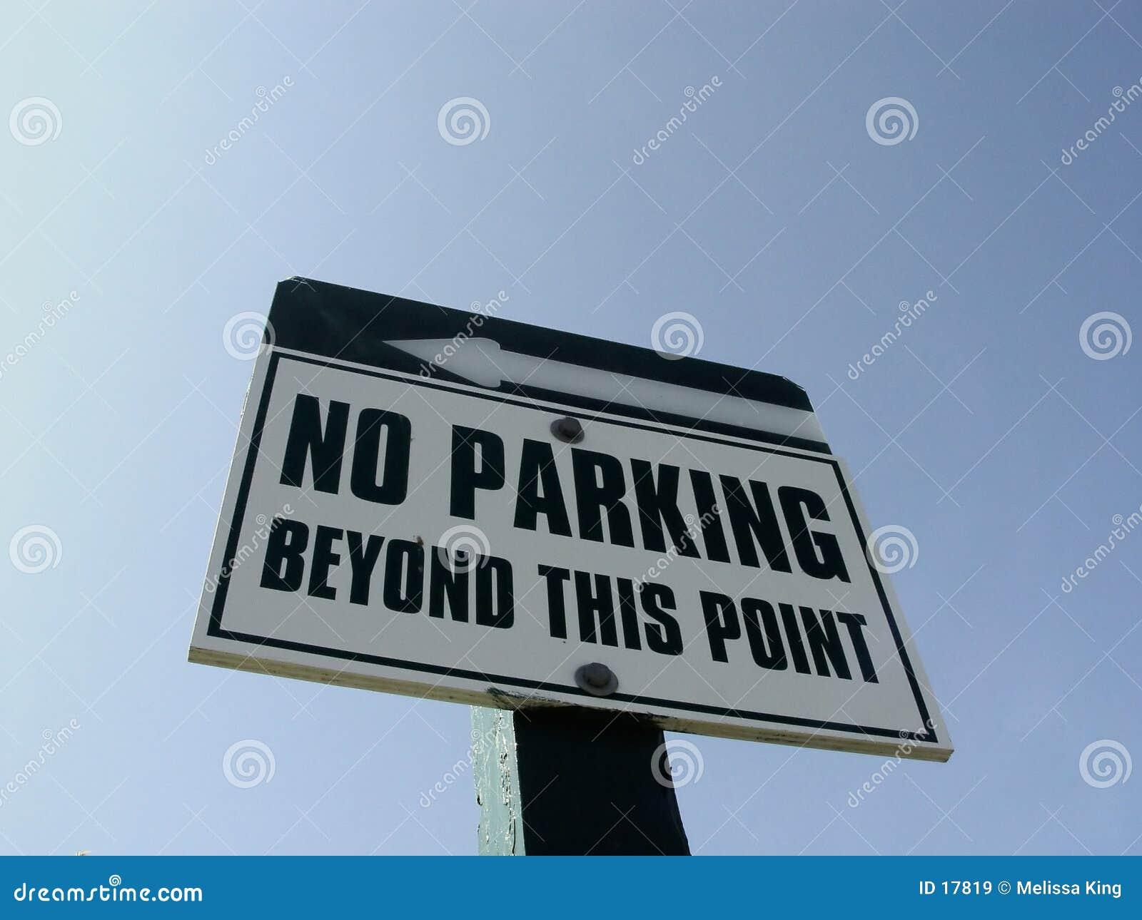 Nenhum sinal do estacionamento