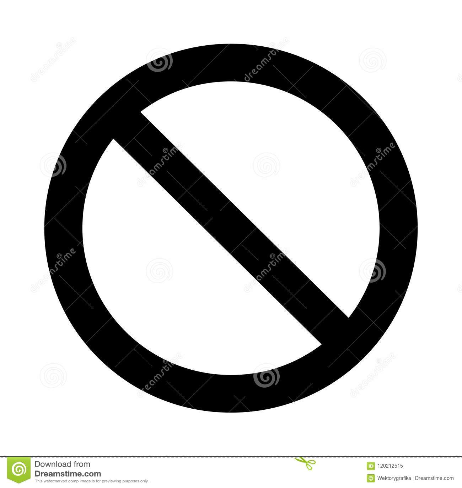 Nenhum sinal, projeto do símbolo da proibição isolado no fundo branco