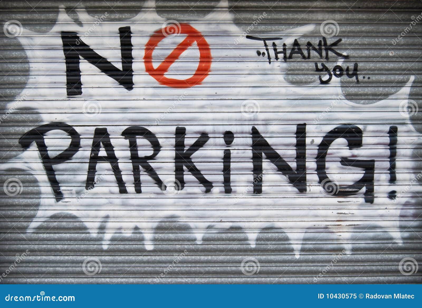 Nenhuns grafittis do estacionamento
