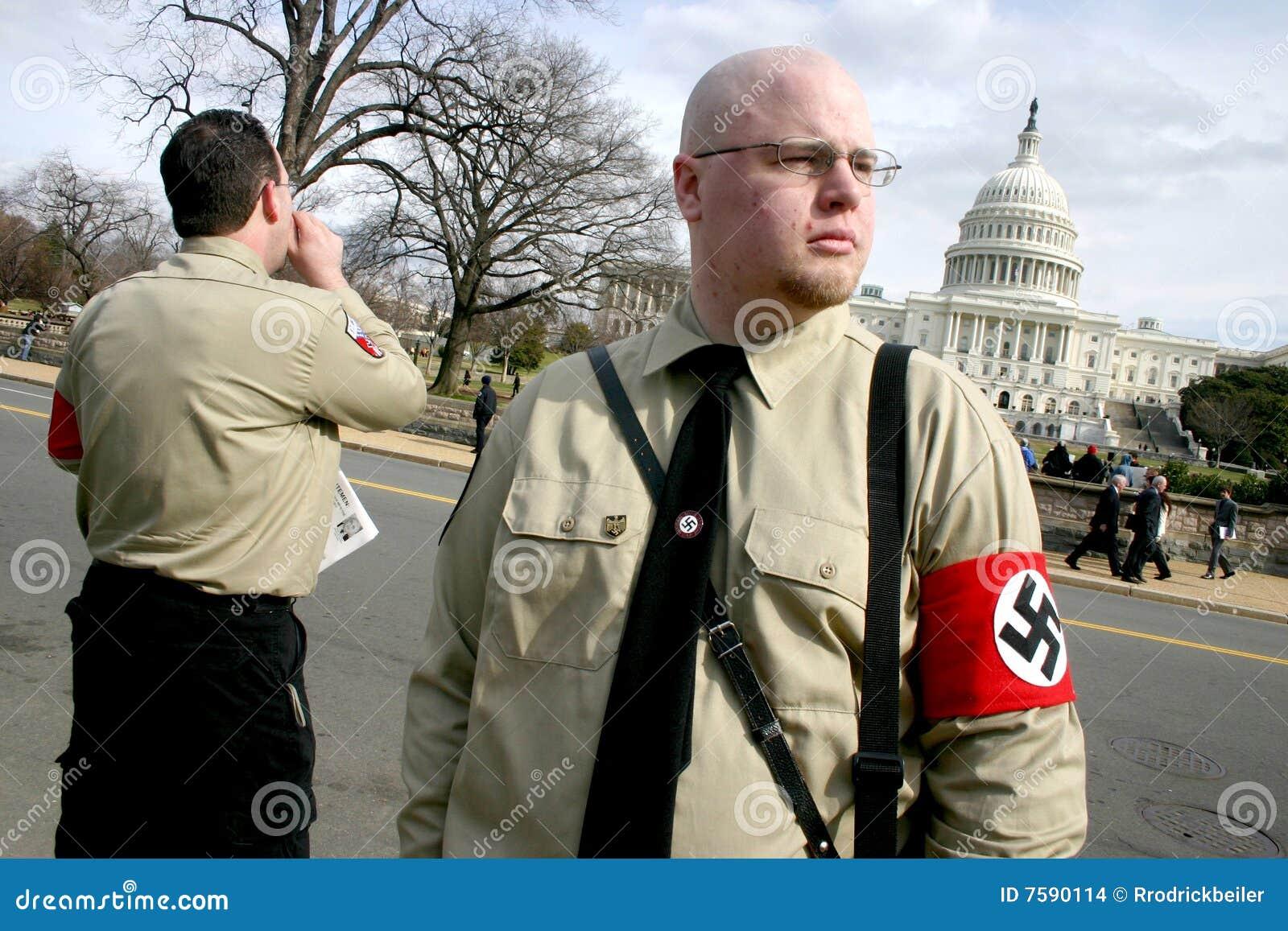 Neo-Nazis bij het Capitool van de V.S.
