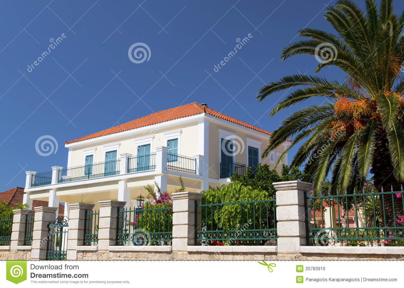 Neoclassic House In Greece Stock Photo Image 20783910