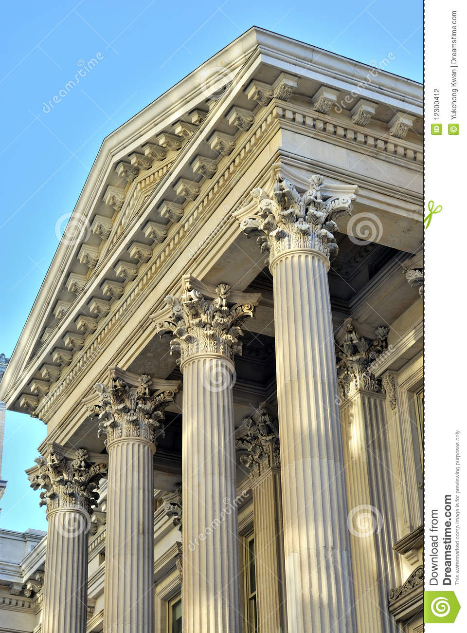 Neoclassical Architecture With Columns Stock Photo Image