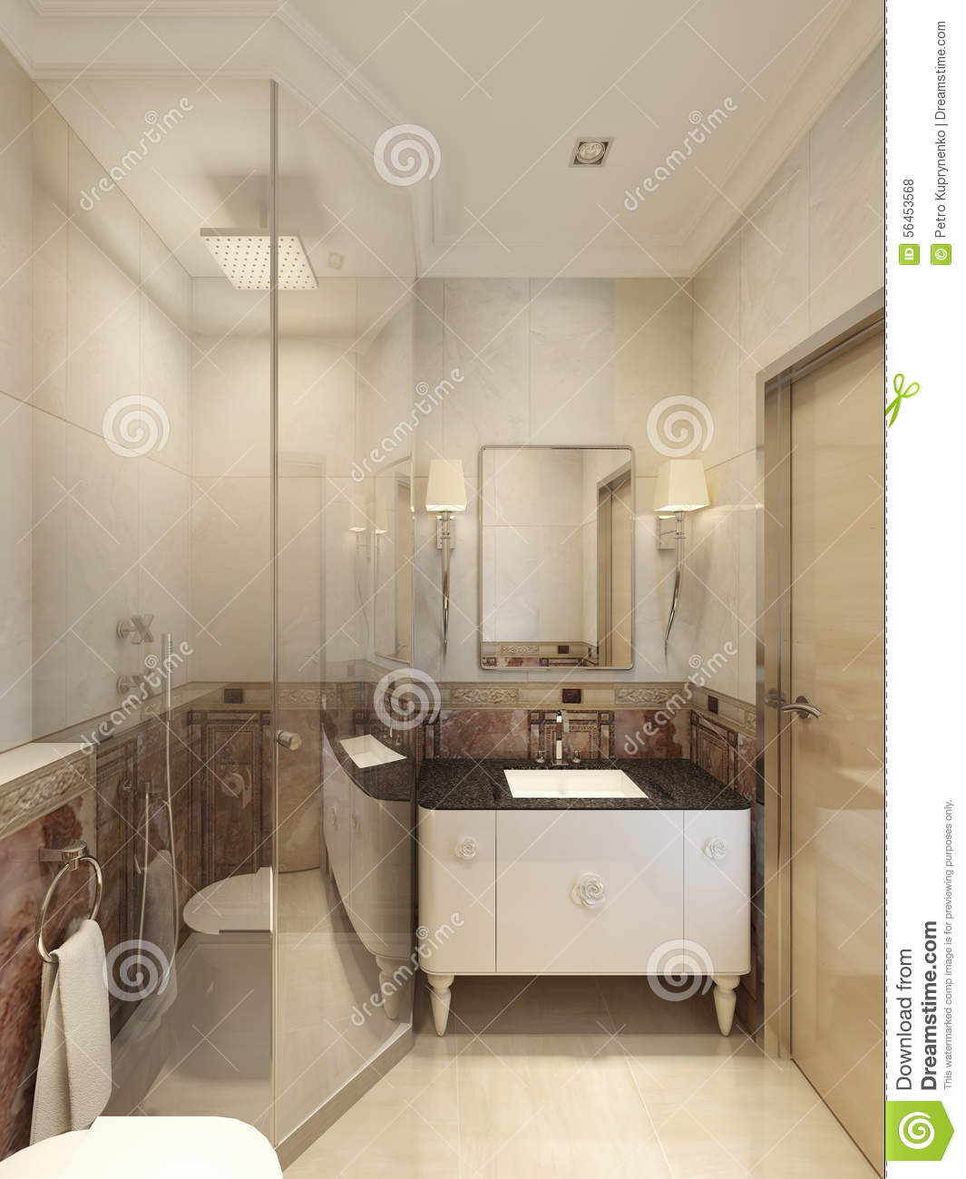 Neoclassical bathroom interior stock photo image 56453568 for Neoclassical bathroom designs