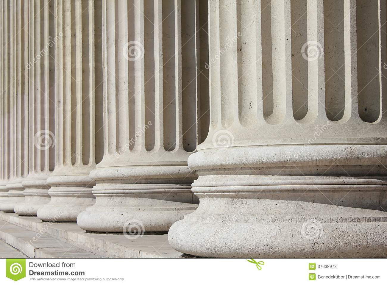 Neoclassical columns - business concept