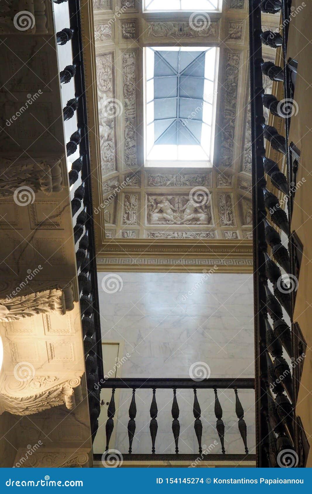 Neoclassical slott av villan Torlonia i Rome, Italien