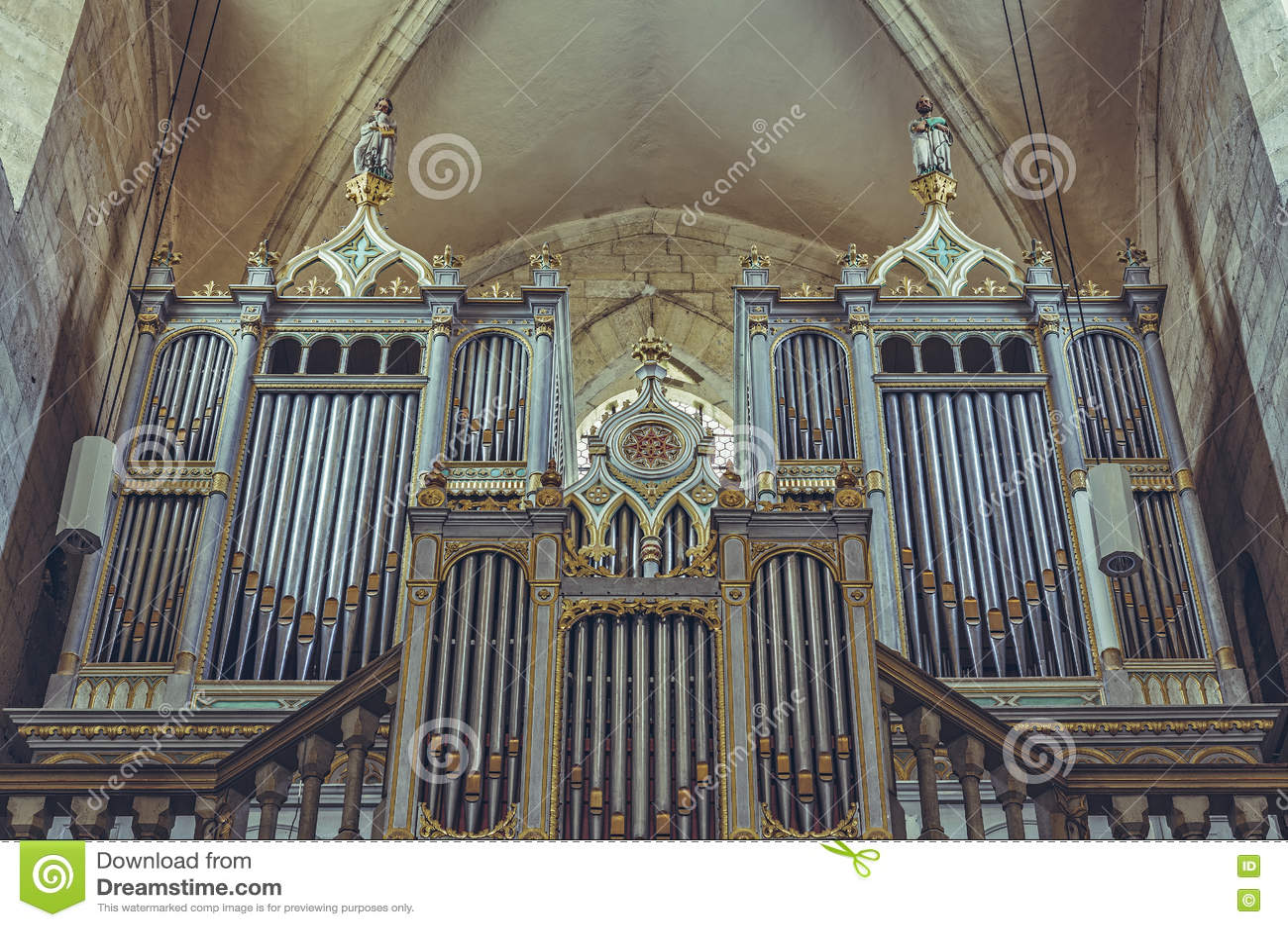 Neogothic organ in Saint Michael Cathedral, Alba Iulia, Romania