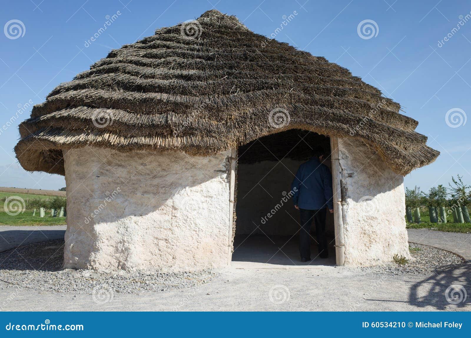 Neolithic House, Stonehenge, England  Stock Photo - Image of