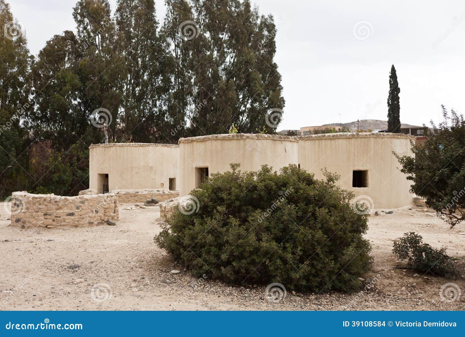 Neolithisch dorp in Cyprus Choirokoitia