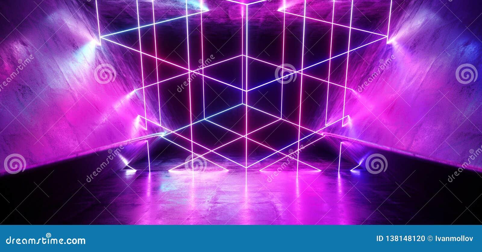 Tremendous Neon Abstract Laser Glowing Cyber Sci Fi Futuristic Modern Download Free Architecture Designs Scobabritishbridgeorg