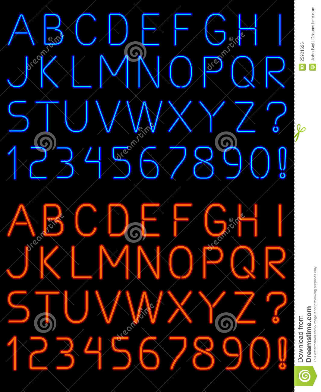 Neon Alphabet Font Stock Vector Illustration Of Tube