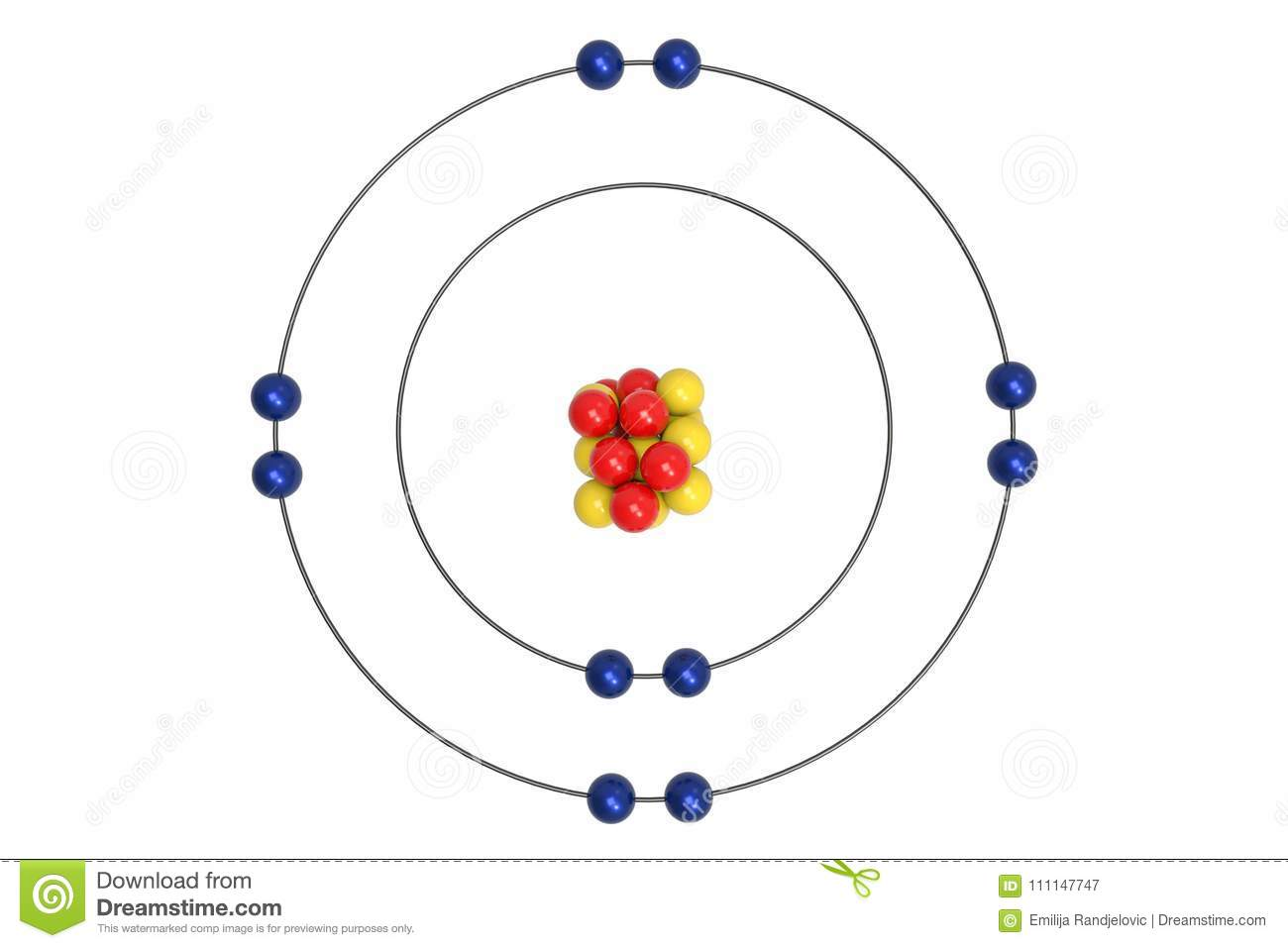 Bohr Diagram For Neon Wiring Strategy Design Plan Craftsman 358 794742 Atom Model With Proton Neutron And Electron Stock Rh Dreamstime Com