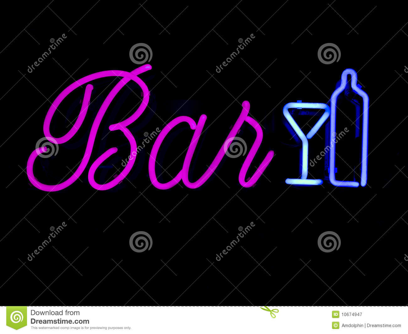 Download Neon bar sign stock image. Image of service, vibrant - 10674947