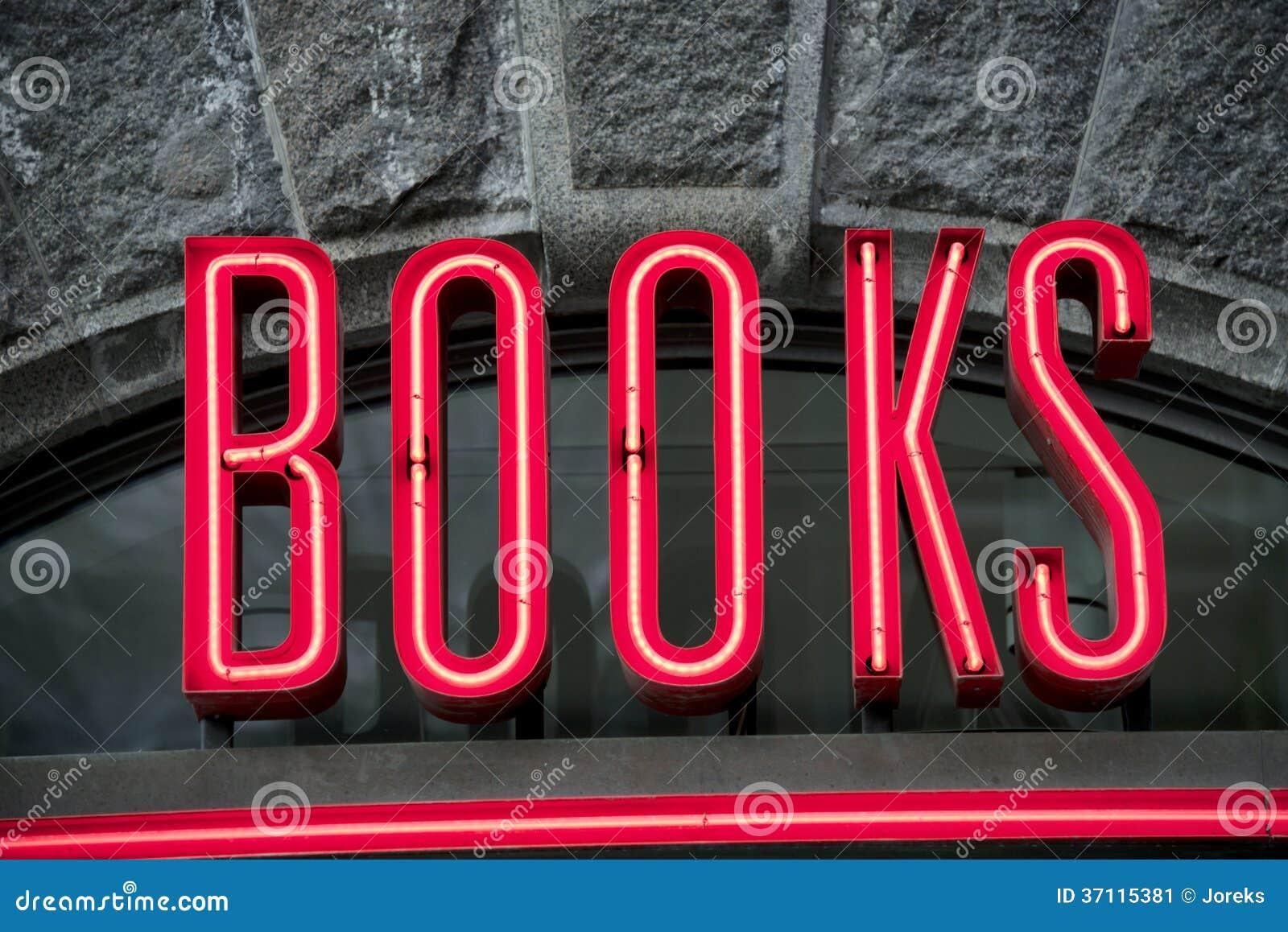 sign books neon bookstore