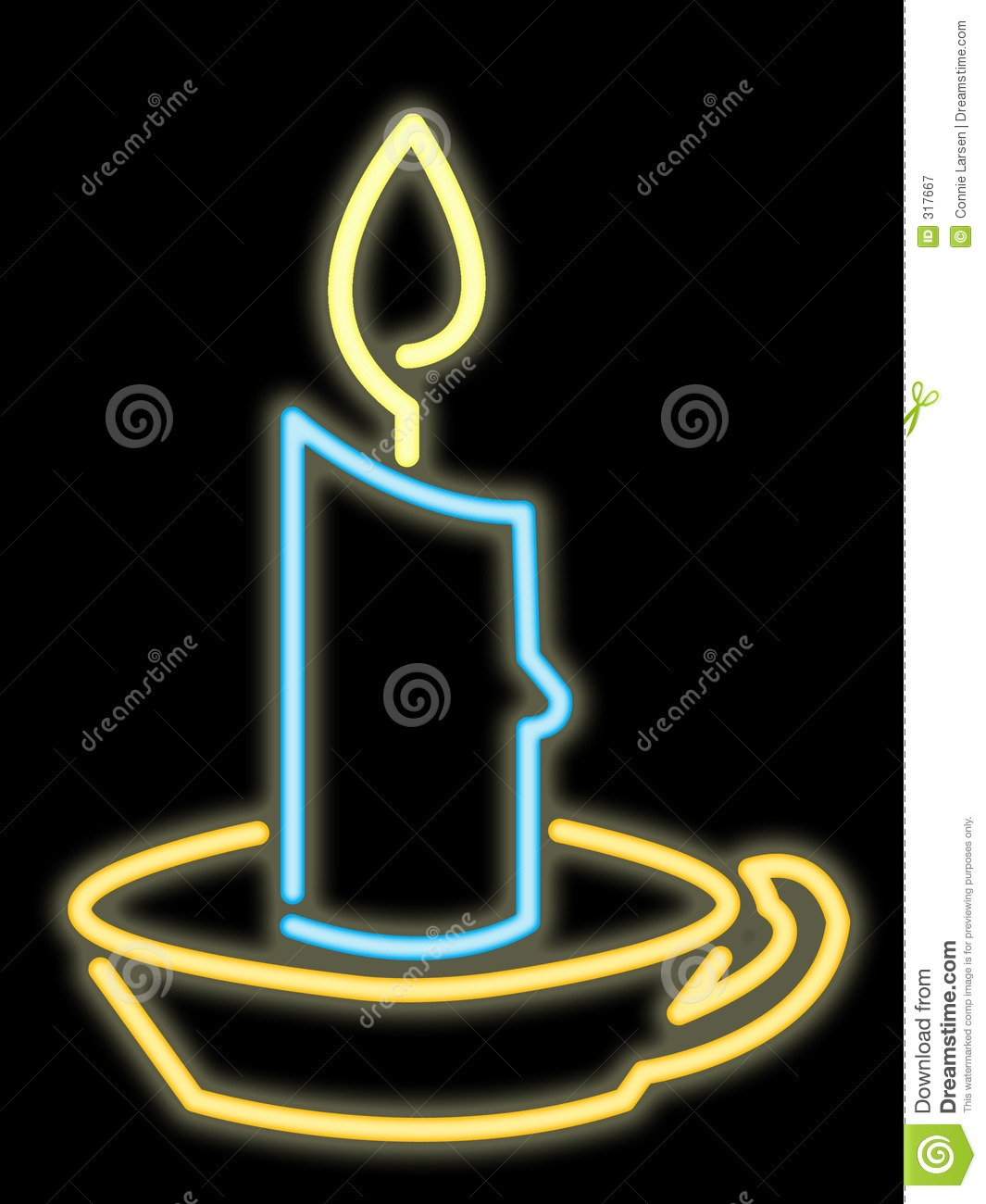 neon candle royalty free stock photography image 317667