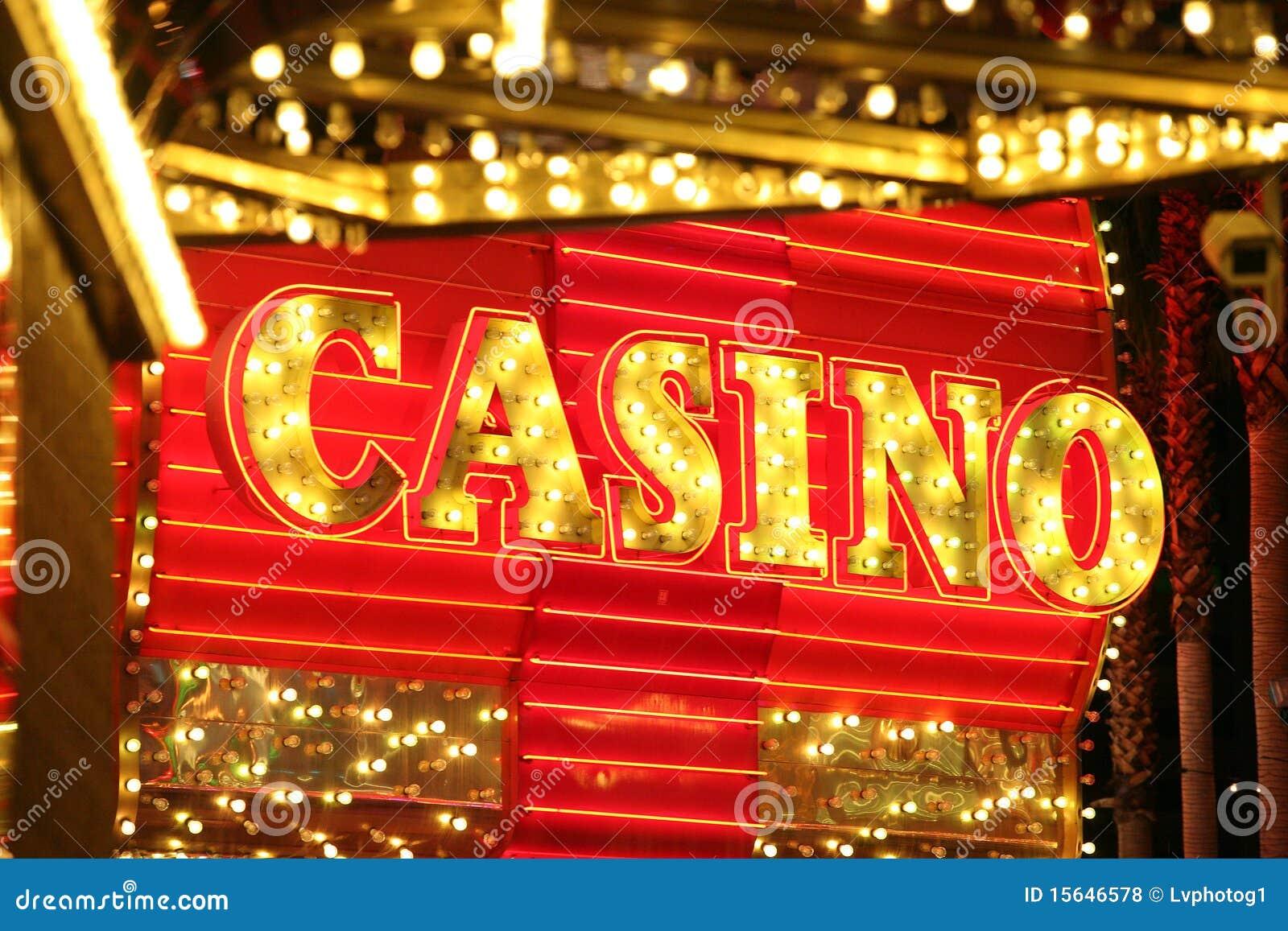 Neon Casino Sign Editorial Stock Photo Image Of Lighting 15646578