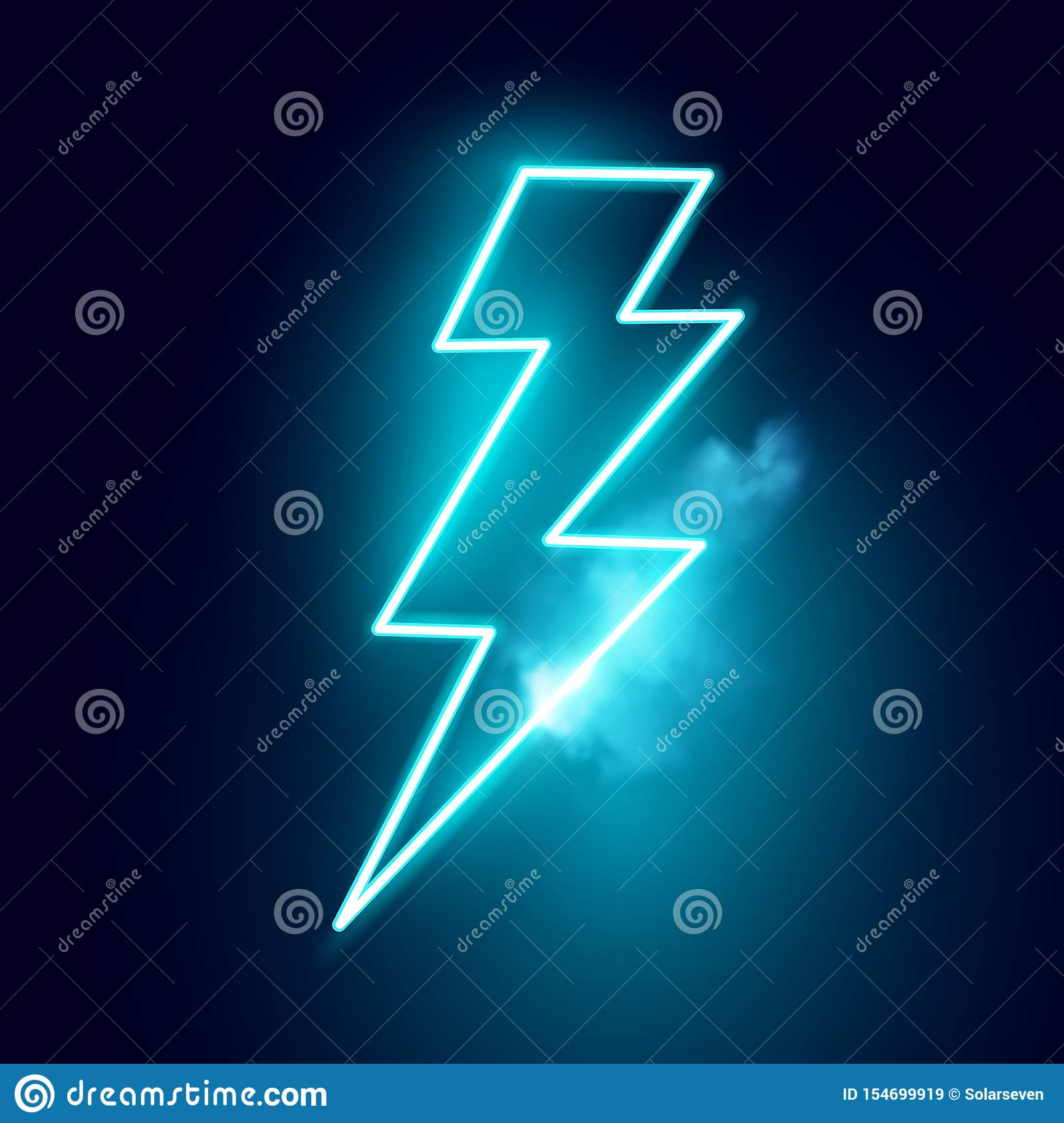 Neon Electric Lightning Bolt Vector Stock Vector   Illustration of ...