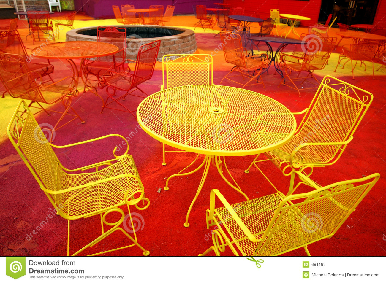 Neon Furniture Royalty Free Stock Image