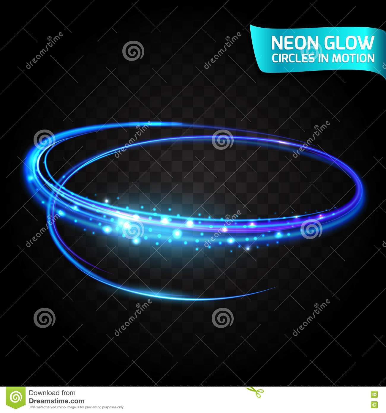 Holiday Lights In Abstract Slow Shutter >> Neon Glow Circles In Motion Blurred Edges Bright Glow Glare