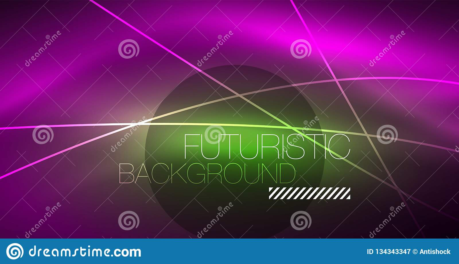 neon glowing magic background banner night sky wallpaper light effect christmas abstract pattern vector 134343347