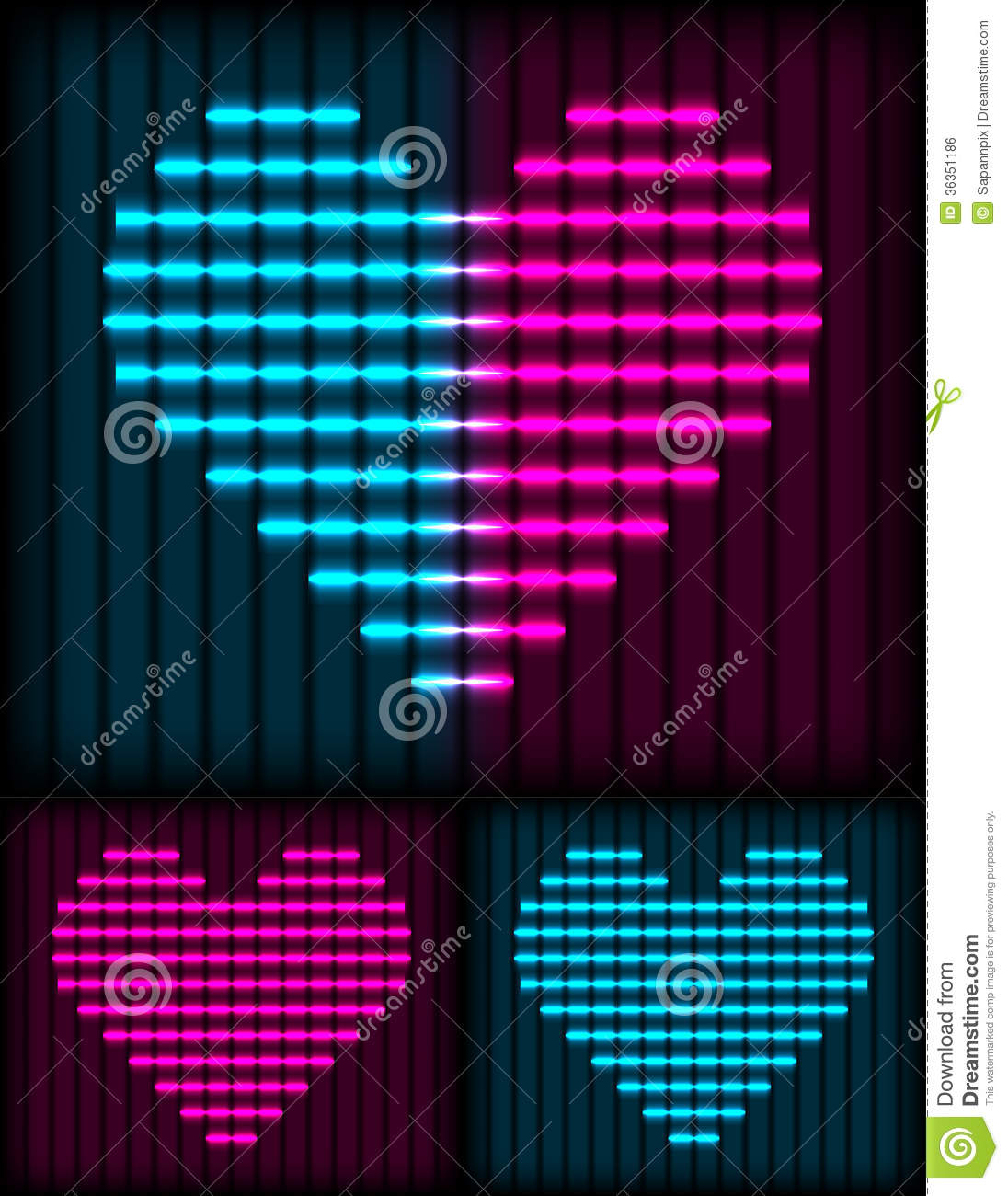 Neon Heart Background Royalty Free Stock Image - Image ...