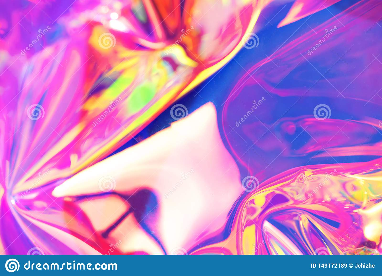 Neon Holographic Background Wallpaper Hologram With Copy Space Wrinkled Abstract Texture With Multiple Colors Stock Image Image Of Iridescent Fluid 149172189