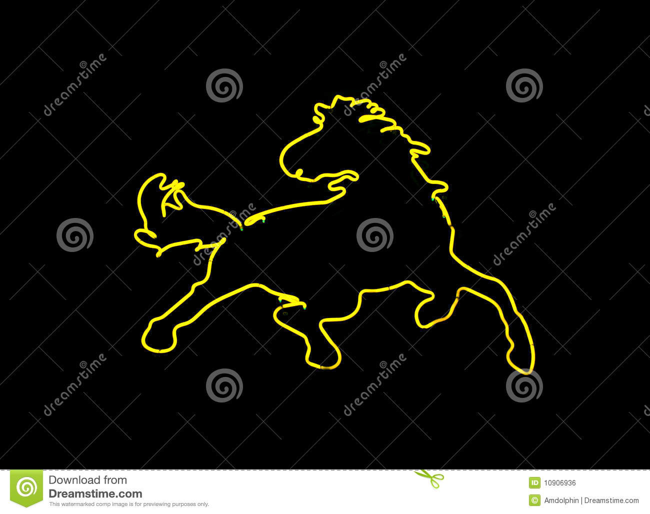 Neon Horse Shaped Sign Royalty Free Stock Image - Image ...