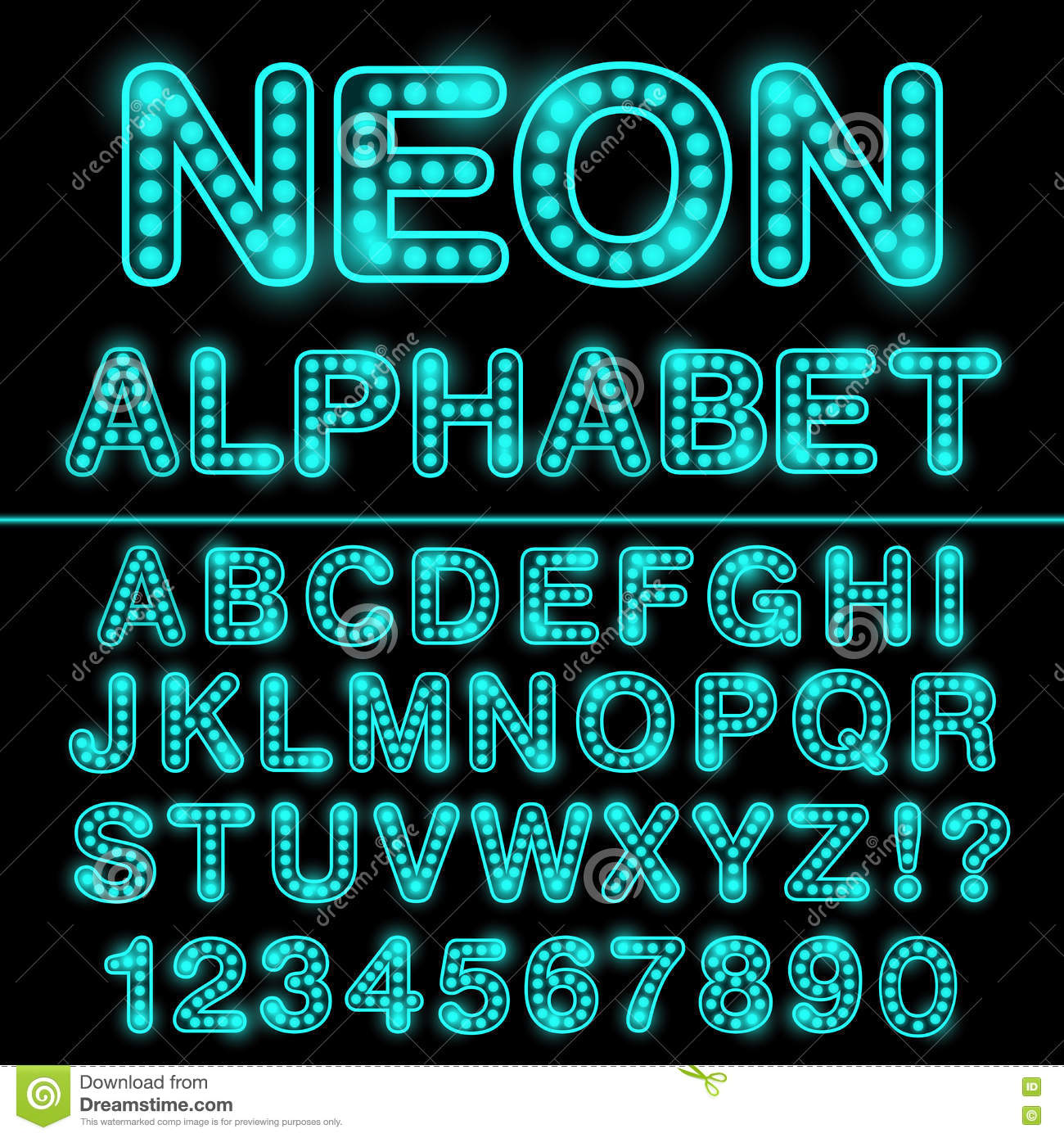 Neon light alphabet in cyan color glowing font for design neon neon light alphabet in cyan color glowing font for design neon sign illustration 73389875 megapixl thecheapjerseys Gallery