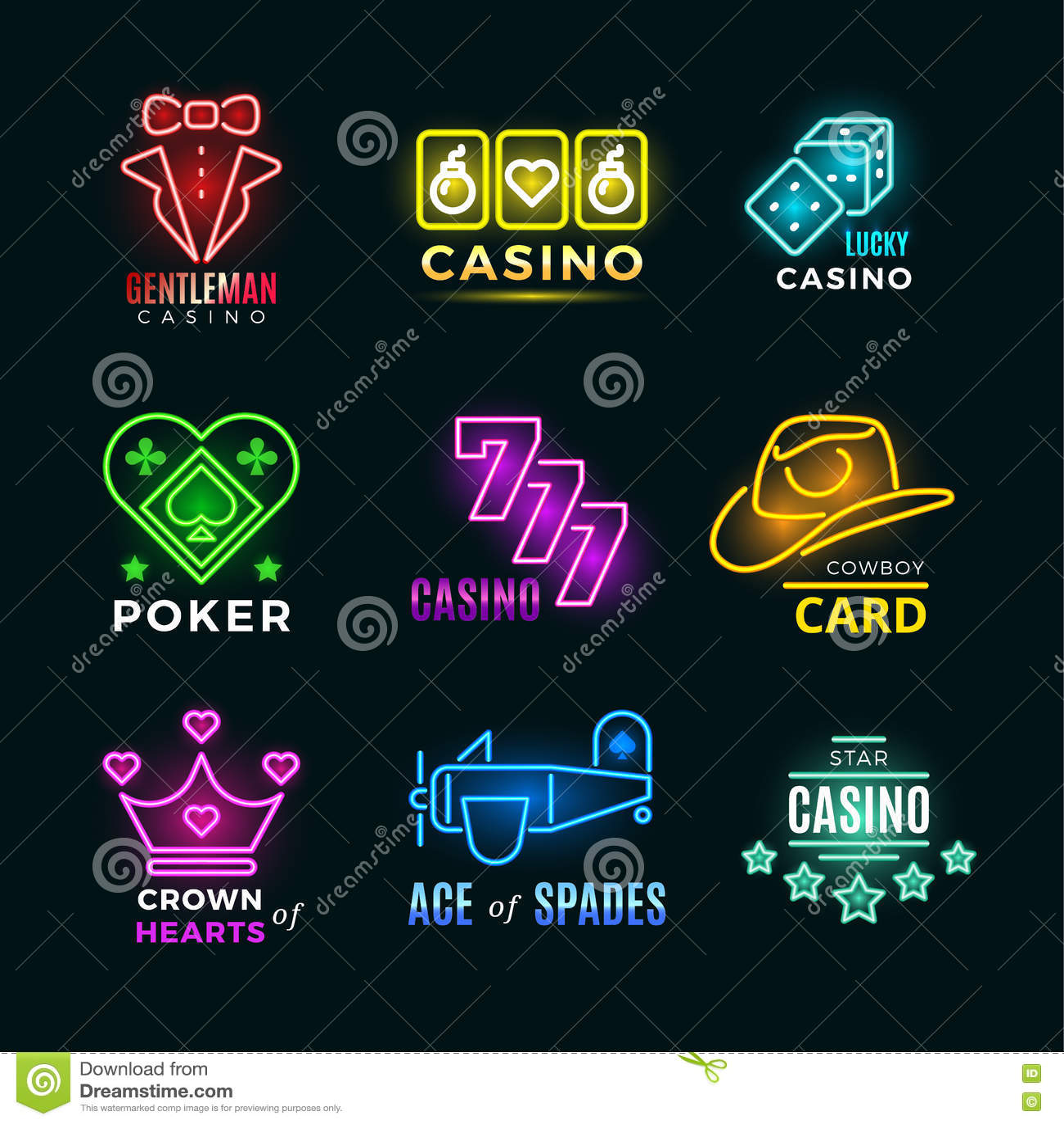 Poker Ace of Spades LED Neon Light Sign
