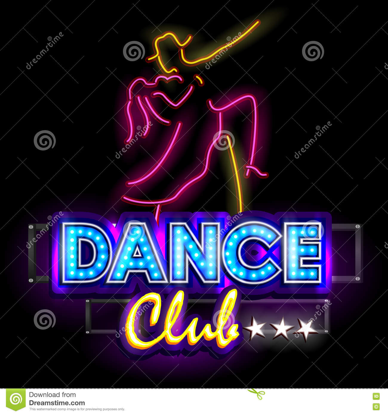 Image Gallery neon lights club dance