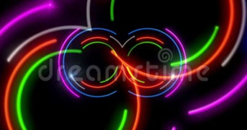 Neon lights 3D fly animation