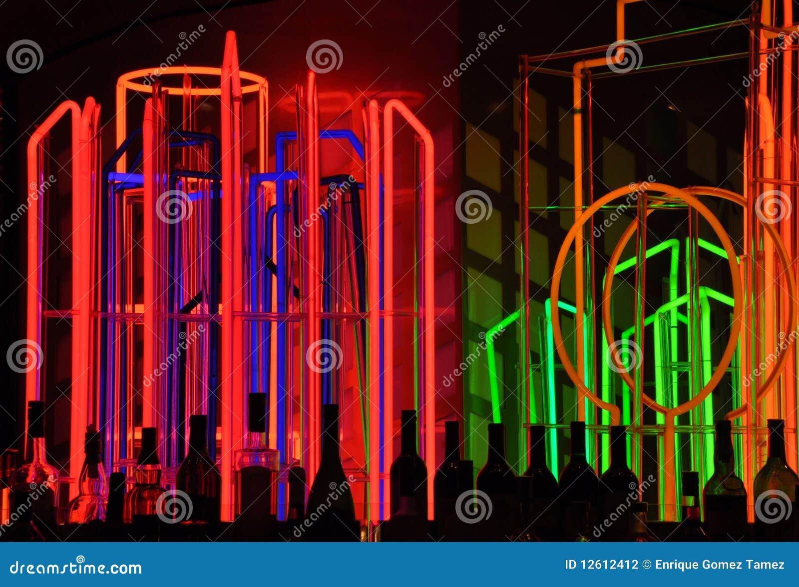 Neon lights at bar stock photo image of background flash 12612412 neon lights at bar aloadofball Image collections