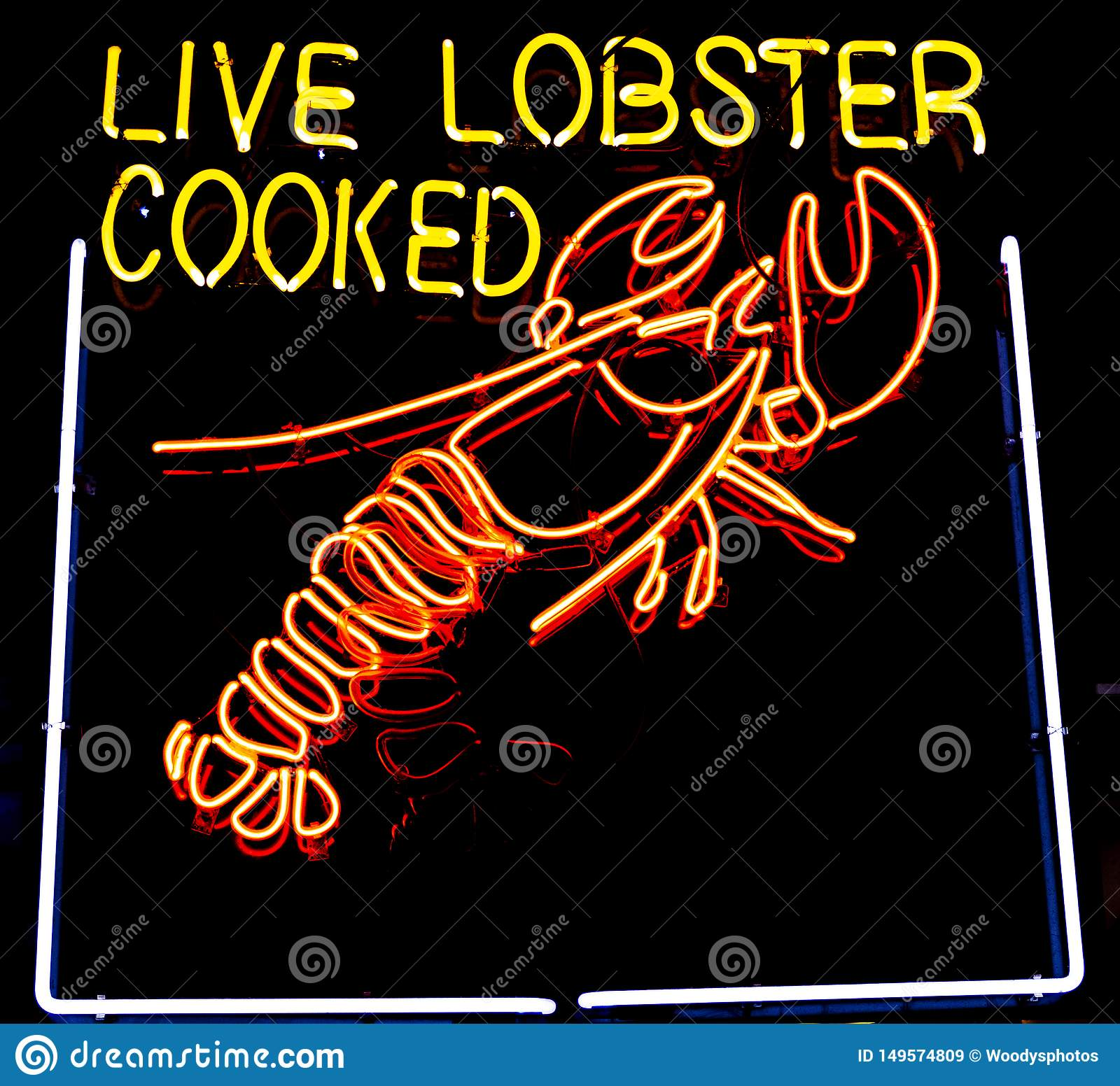 Neon Live Lobster Sign