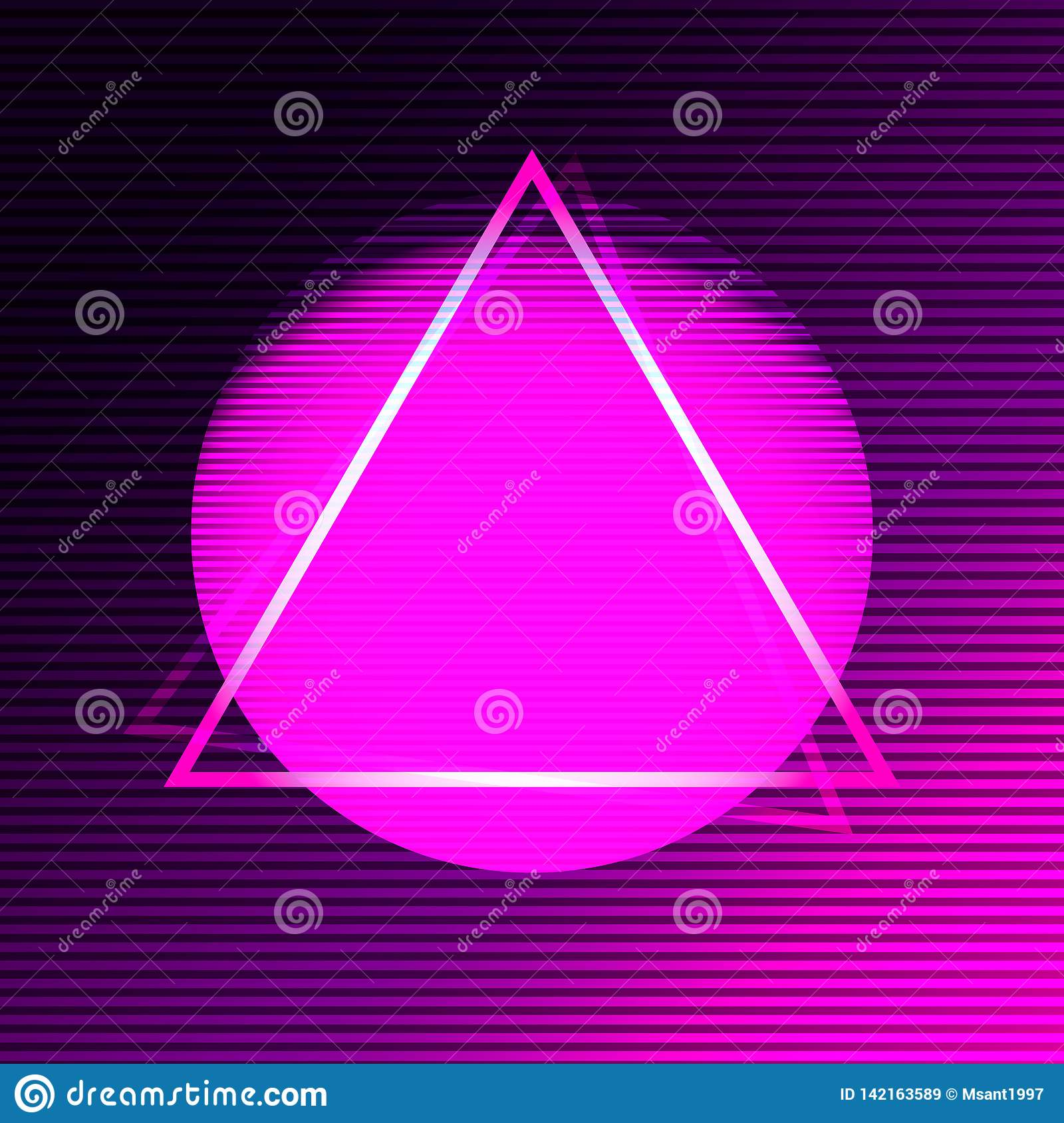 Neon modern poster in the style of synthave.