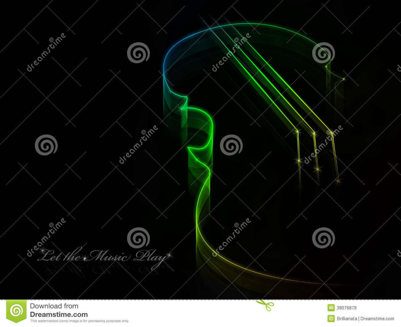 Neon Music Notes Background: Neon Music Background Royalty Free Stock Images
