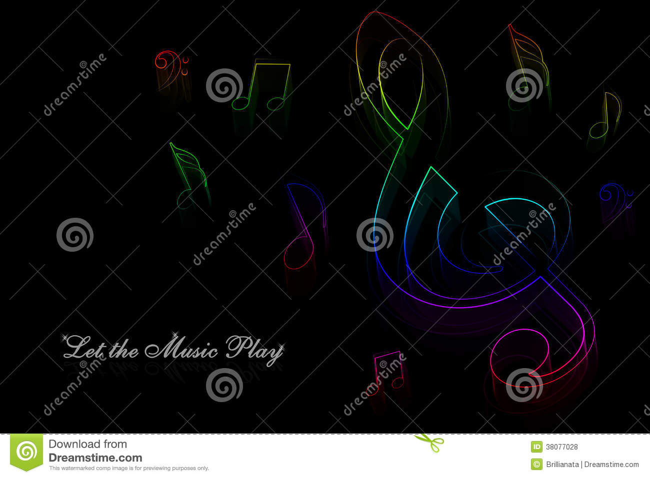 neon music notes stock illustration image of glow layout