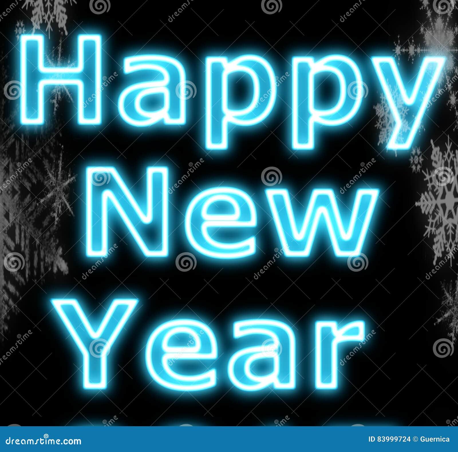 Neon happy new year