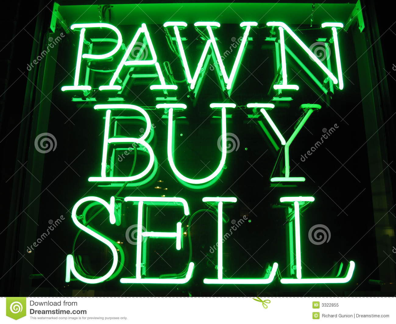 Neon Pawn Shop Sign Royalty Free Stock Photo Image 3322855