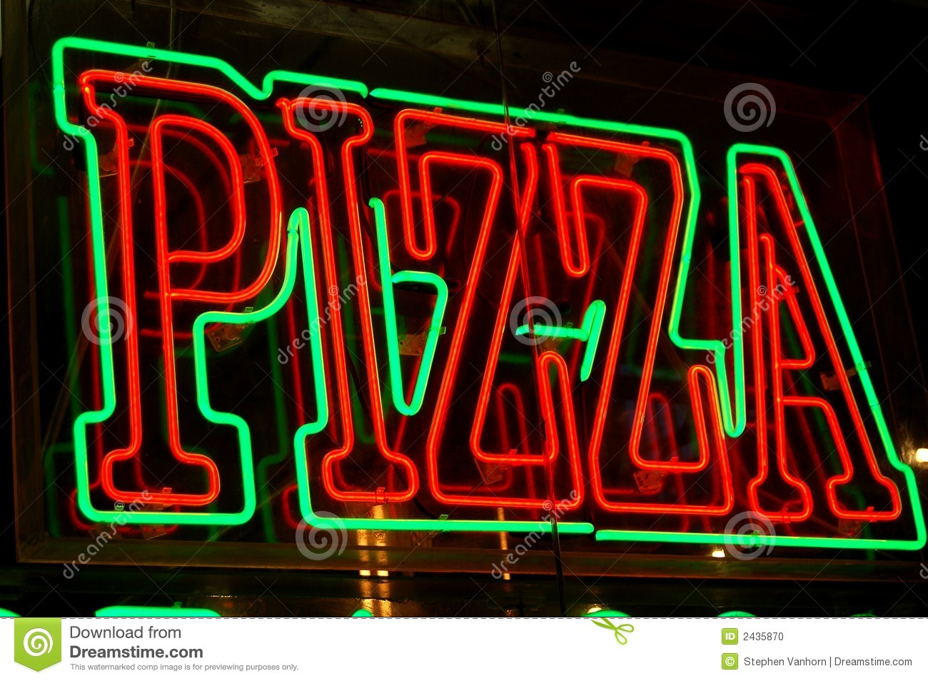 neon pizza sign stock photo image 2435870 french fries clip art free french fries clipart black and white
