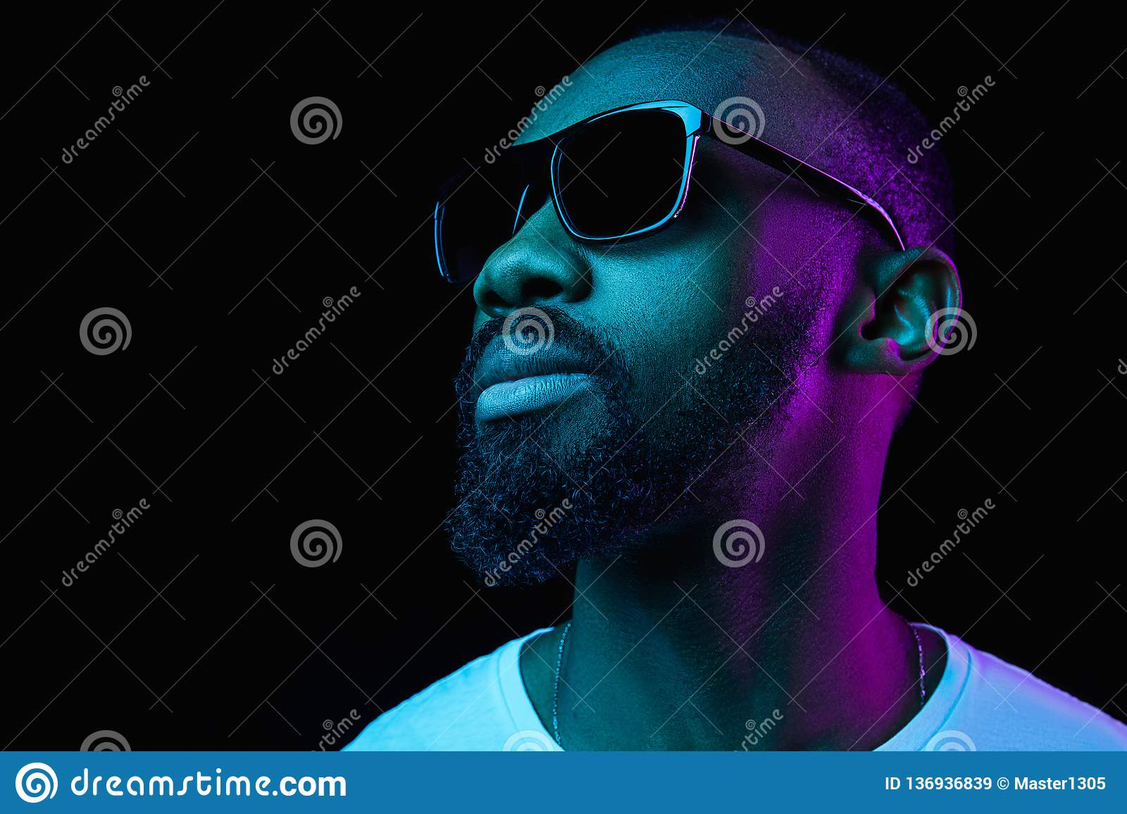 Premium Photo   Jumping high. african-american young mans portrait on gradient background in
