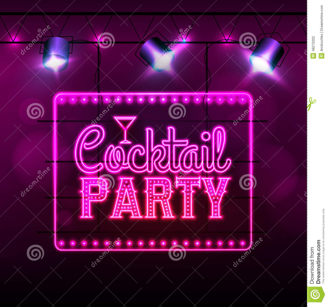 neon sign  cocktail bar stock vector  illustration of